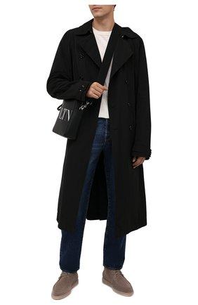 Мужские замшевые ботинки SANTONI серого цвета, арт. MGDG17891TAAASVUM45 | Фото 2 (Материал утеплителя: Натуральный мех; Подошва: Плоская; Материал внутренний: Натуральная кожа; Мужское Кросс-КТ: Ботинки-обувь, зимние ботинки; Материал внешний: Замша)