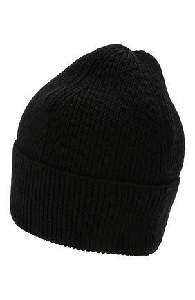 Мужская шерстяная шапка Y-3 черного цвета, арт. H54025/M | Фото 2 (Материал: Шерсть; Кросс-КТ: Трикотаж)