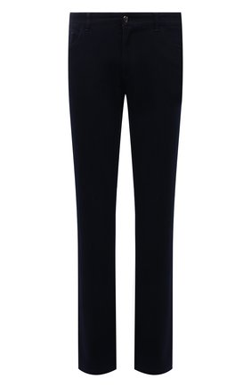 Мужские джинсы ZILLI темно-синего цвета, арт. MCW-00032-JABI1/R001   Фото 1 (Материал внешний: Хлопок; Длина (брюки, джинсы): Стандартные; Кросс-КТ: Деним; Силуэт М (брюки): Прямые; Стили: Кэжуэл)