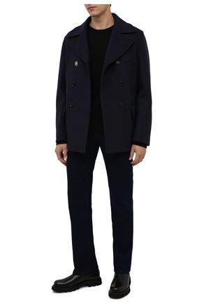 Мужские джинсы ZILLI темно-синего цвета, арт. MCW-00032-JABI1/R001   Фото 2 (Материал внешний: Хлопок; Длина (брюки, джинсы): Стандартные; Кросс-КТ: Деним; Силуэт М (брюки): Прямые; Стили: Кэжуэл)