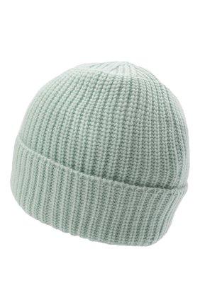 Мужская шерстяная шапка STONE ISLAND светло-зеленого цвета, арт. 7515N10B5 | Фото 2 (Материал: Шерсть; Кросс-КТ: Трикотаж)