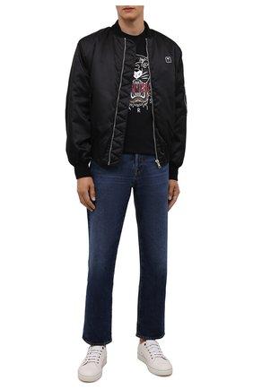 Мужская хлопковая футболка KENZO черного цвета, арт. FB65TS0204YA | Фото 2 (Материал внешний: Хлопок; Длина (для топов): Стандартные; Рукава: Короткие; Принт: С принтом; Стили: Кэжуэл)