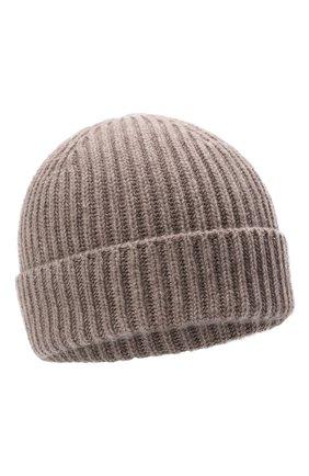 Мужская кашемировая шапка FEDELI бежевого цвета, арт. 4UI07302   Фото 1 (Материал: Шерсть, Кашемир; Кросс-КТ: Трикотаж)