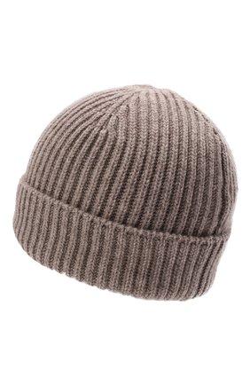 Мужская кашемировая шапка FEDELI бежевого цвета, арт. 4UI07302   Фото 2 (Материал: Шерсть, Кашемир; Кросс-КТ: Трикотаж)