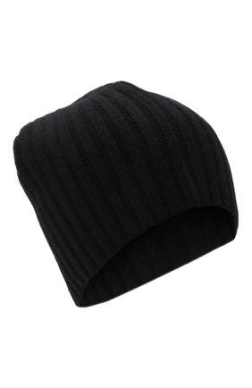Мужская кашемировая шапка ALLUDE черного цвета, арт. 215/60630 | Фото 1 (Материал: Кашемир, Шерсть; Кросс-КТ: Трикотаж)
