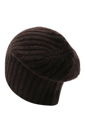 Мужская кашемировая шапка ALLUDE темно-коричневого цвета, арт. 215/60630 | Фото 2 (Материал: Шерсть, Кашемир; Кросс-КТ: Трикотаж)