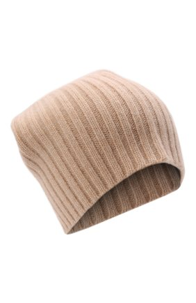 Мужская кашемировая шапка ALLUDE бежевого цвета, арт. 215/60630 | Фото 1 (Материал: Кашемир, Шерсть; Кросс-КТ: Трикотаж)