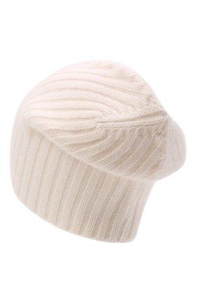 Мужская кашемировая шапка ALLUDE кремвого цвета, арт. 215/60630 | Фото 2 (Материал: Шерсть, Кашемир; Кросс-КТ: Трикотаж)