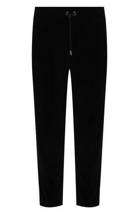 Мужские хлопковые брюки MONCLER черного цвета, арт. G2-091-8H000-06-899GH | Фото 1 (Длина (брюки, джинсы): Стандартные; Материал внешний: Хлопок; Случай: Повседневный; Стили: Спорт-шик)