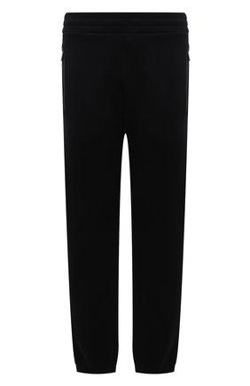 Мужские хлопковые джоггеры MONCLER черного цвета, арт. G2-091-8H000-04-899FL | Фото 1 (Материал внешний: Хлопок; Длина (брюки, джинсы): Стандартные; Силуэт М (брюки): Джоггеры; Мужское Кросс-КТ: Брюки-трикотаж; Стили: Спорт-шик)