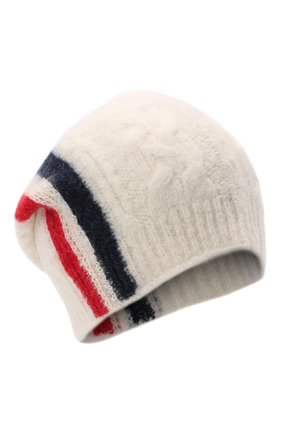 Мужская шерстяная шапка MONCLER белого цвета, арт. G2-091-3B000-03-M1211 | Фото 1 (Материал: Шерсть; Кросс-КТ: Трикотаж)