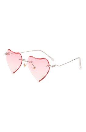 Детские солнцезащитные очки MONNALISA розового цвета, арт. 178012   Фото 1 (Материал: Текстиль, Пластик)
