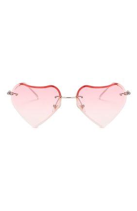 Детские солнцезащитные очки MONNALISA розового цвета, арт. 178012   Фото 2 (Материал: Текстиль, Пластик)