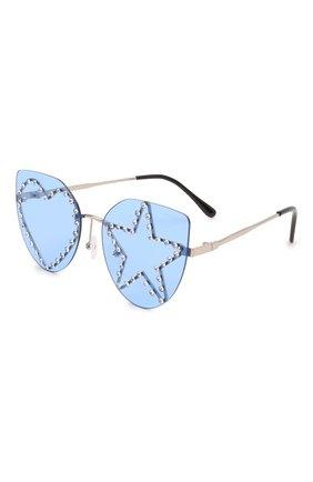 Детские солнцезащитные очки MONNALISA голубого цвета, арт. 178013   Фото 1 (Материал: Пластик, Текстиль)