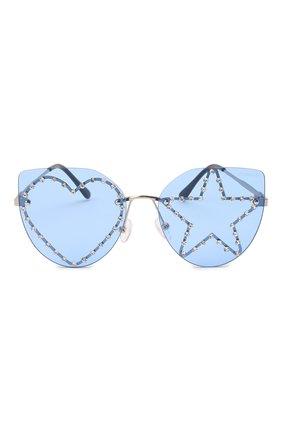 Детские солнцезащитные очки MONNALISA голубого цвета, арт. 178013   Фото 2 (Материал: Пластик, Текстиль)