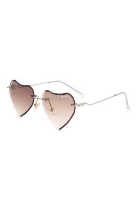 Детские солнцезащитные очки MONNALISA коричневого цвета, арт. 178012   Фото 1 (Материал: Текстиль, Пластик)