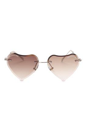 Детские солнцезащитные очки MONNALISA коричневого цвета, арт. 178012   Фото 2 (Материал: Текстиль, Пластик)