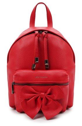 Детская рюкзак MONNALISA красного цвета, арт. 178001   Фото 1 (Материал: Текстиль)