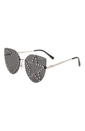 Детские солнцезащитные очки MONNALISA черного цвета, арт. 178013   Фото 1 (Материал: Пластик, Текстиль)