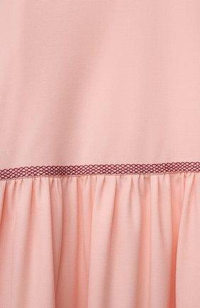 Детское шерстяное платье LORO PIANA светло-розового цвета, арт. FAL6883 | Фото 3 (Материал внешний: Шерсть; Рукава: Длинные; Случай: Повседневный; Девочки Кросс-КТ: Платье-одежда; Материал подклада: Вискоза; Ростовка одежда: 10 - 11 лет | 140 - 146см, 12 лет | 152 см, 2 года | 92 см, 4 года | 104 см, 6 лет | 116 см, 8 лет | 128 см)