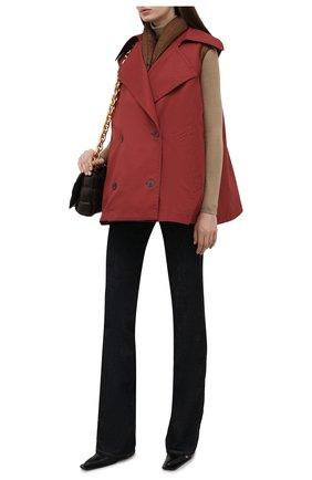 Женский двухслойный жилет LOEWE  цвета, арт. S359338XBI | Фото 2 (Материал внешний: Синтетический материал; Материал утеплителя: Пух и перо; Длина (верхняя одежда): Короткие; Материал подклада: Синтетический материал; Стили: Гламурный; Женское Кросс-КТ: Жилет-одежда; Кросс-КТ: Пуховик)