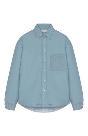 Мужская куртка JACQUEMUS голубого цвета, арт. 216SH104-1290/ | Фото 1 (Кросс-КТ: Куртка, Ветровка; Длина (верхняя одежда): Короткие; Материал внешний: Синтетический материал; Стили: Минимализм)