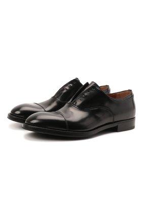 Мужские кожаные оксфорды PREMIATA черного цвета, арт. PREMIATA/REAL | Фото 1 (Материал внутренний: Натуральная кожа; Стили: Классический)