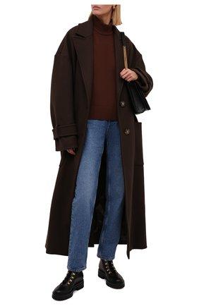 Женские кожаные ботинки GIANVITO ROSSI черного цвета, арт. G73498.20G0M.CLYNENE | Фото 2 (Материал утеплителя: Натуральный мех; Каблук высота: Низкий; Подошва: Платформа; Материал внутренний: Натуральная кожа; Женское Кросс-КТ: Зимние ботинки)