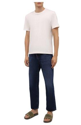 Мужские шлепанцы OFF-WHITE хаки цвета, арт. 0MIC001F21MAT0016310 | Фото 2 (Материал внутренний: Текстиль; Материал внешний: Текстиль)