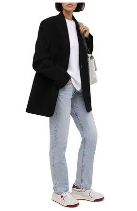 Женские кожаные кроссовки single stud VALENTINO бордового цвета, арт. WW2S0CS4/NWN | Фото 2 (Материал внутренний: Натуральная кожа, Текстиль; Подошва: Платформа)