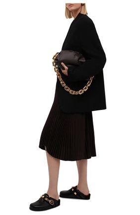 Женские кожаные сабо roman stud VALENTINO черного цвета, арт. WW2S0CX8/ZLM | Фото 2 (Подошва: Платформа; Материал внутренний: Текстиль; Каблук высота: Без каблука; Каблук тип: Устойчивый)