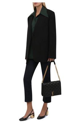 Женские кожаные туфли alexa DOLCE & GABBANA черного цвета, арт. CG0505/AQ130 | Фото 2 (Каблук высота: Средний; Подошва: Плоская; Материал внутренний: Натуральная кожа; Каблук тип: Устойчивый)
