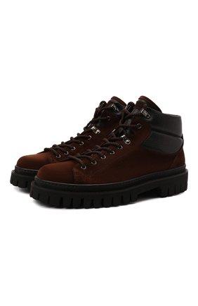 Мужские замшевые ботинки BARRETT темно-коричневого цвета, арт. ASPEN-11481.6/REPELL0 0IL | Фото 1 (Подошва: Массивная; Материал утеплителя: Натуральный мех; Материал внешний: Замша; Мужское Кросс-КТ: Ботинки-обувь, Хайкеры-обувь, зимние ботинки)