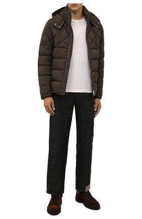 Мужские замшевые ботинки BARRETT темно-коричневого цвета, арт. ASPEN-11481.6/REPELL0 0IL | Фото 2 (Подошва: Массивная; Материал утеплителя: Натуральный мех; Материал внешний: Замша; Мужское Кросс-КТ: Ботинки-обувь, Хайкеры-обувь, зимние ботинки)