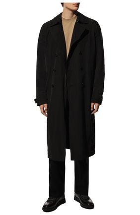 Мужские кожаные кроссовки BARRETT черного цвета, арт. MEGEVE-10970.11/C0RAL | Фото 2 (Материал утеплителя: Натуральный мех; Подошва: Массивная; Стили: Классический)