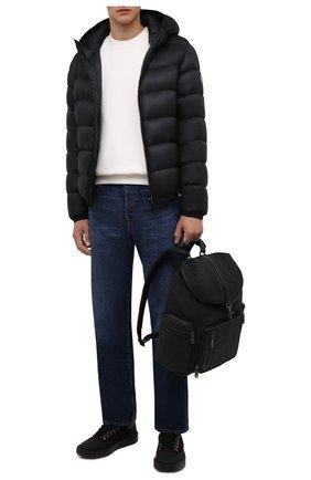 Мужские кожаные кеды BARRETT темно-коричневого цвета, арт. RISE-11473.3/GUMMY | Фото 2 (Материал внутренний: Натуральная кожа; Подошва: Массивная)