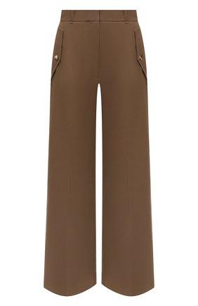 Женские хлопковые брюки KENZO коричневого цвета, арт. FB62PA0365AB   Фото 1 (Материал внешний: Хлопок; Длина (брюки, джинсы): Стандартные; Стили: Кэжуэл; Женское Кросс-КТ: Брюки-одежда; Силуэт Ж (брюки и джинсы): Широкие)