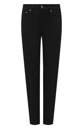 Женские джинсы BURBERRY черного цвета, арт. 8045027   Фото 1 (Материал внешний: Хлопок; Длина (брюки, джинсы): Стандартные; Стили: Кэжуэл; Кросс-КТ: Деним; Силуэт Ж (брюки и джинсы): Слим)