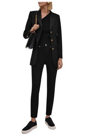 Женские джинсы BURBERRY черного цвета, арт. 8045027   Фото 2 (Материал внешний: Хлопок; Длина (брюки, джинсы): Стандартные; Стили: Кэжуэл; Кросс-КТ: Деним; Силуэт Ж (брюки и джинсы): Слим)
