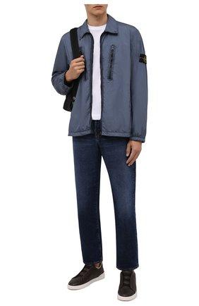 Мужские кожаные кеды triple stitch ZEGNA COUTURE темно-коричневого цвета, арт. A4668X-LHCLM | Фото 2 (Материал утеплителя: Натуральный мех; Подошва: Плоская)