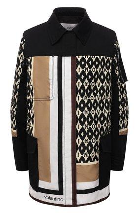 Женская куртка VALENTINO разноцветного цвета, арт. WB3CJ2106JL   Фото 1 (Материал подклада: Синтетический материал; Рукава: Длинные; Длина (верхняя одежда): До середины бедра; Материал внешний: Синтетический материал; Стили: Спорт-шик; Кросс-КТ: Куртка)