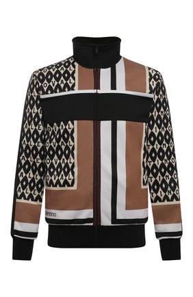 Мужской толстовка VALENTINO коричневого цвета, арт. WV3MF19N7M4 | Фото 1 (Рукава: Длинные; Материал подклада: Купро; Материал внешний: Синтетический материал; Длина (для топов): Стандартные; Мужское Кросс-КТ: Толстовка-одежда; Стили: Спорт-шик)