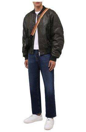 Мужские кожаные кеды open VALENTINO белого цвета, арт. WY2S0830/GHG | Фото 2 (Подошва: Массивная; Материал внутренний: Натуральная кожа)