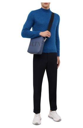 Мужские шерстяные брюки DRIES VAN NOTEN темно-синего цвета, арт. 212-020939-3230 | Фото 2 (Материал внешний: Шерсть; Длина (брюки, джинсы): Стандартные; Материал подклада: Купро; Случай: Повседневный; Стили: Кэжуэл)