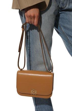 Женская сумка goya small LOEWE бежевого цвета, арт. A896N09X01 | Фото 2 (Материал: Натуральная кожа; Размер: small; Ремень/цепочка: На ремешке)