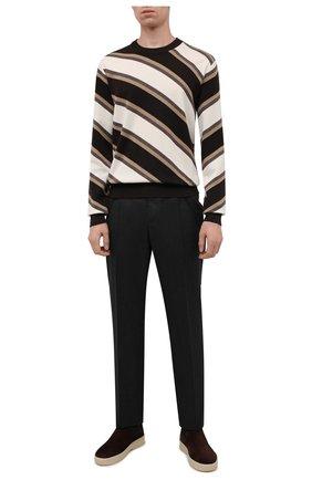 Мужские замшевые челси ultimate walk beatle LORO PIANA темно-коричневого цвета, арт. FAL9344 | Фото 2 (Подошва: Плоская; Материал внутренний: Натуральная кожа; Материал внешний: Замша; Мужское Кросс-КТ: Сапоги-обувь, Челси-обувь)