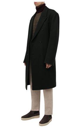 Мужские замшевые челси ultimate walk beatle LORO PIANA коричневого цвета, арт. FAL9344 | Фото 2 (Материал внутренний: Натуральная кожа; Материал внешний: Замша; Мужское Кросс-КТ: Сапоги-обувь, Челси-обувь; Подошва: Плоская)