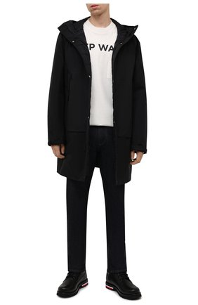 Мужские кожаные ботинки vancouver MONCLER черного цвета, арт. G2-09A-4F700-00-02S71 | Фото 2 (Материал внутренний: Натуральная кожа; Подошва: Плоская; Мужское Кросс-КТ: Ботинки-обувь)