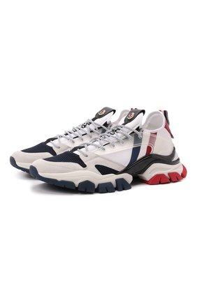 Мужские комбинированные кроссовки leave no trace MONCLER белого цвета, арт. G2-09A-4M716-40-02S16 | Фото 1 (Материал внутренний: Натуральная кожа, Текстиль; Подошва: Массивная; Материал внешний: Текстиль; Стили: Гранж)