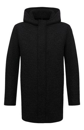 Мужская шерстяная парка HARRIS WHARF LONDON темно-серого цвета, арт. C9138MLK-W | Фото 1 (Материал утеплителя: Шерсть; Материал внешний: Шерсть; Кросс-КТ: Куртка; Рукава: Длинные; Длина (верхняя одежда): До середины бедра; Стили: Кэжуэл)